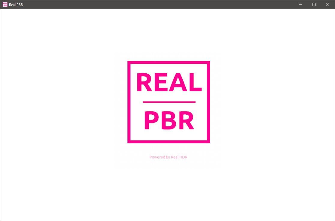 Real PBR beta Startup Screen